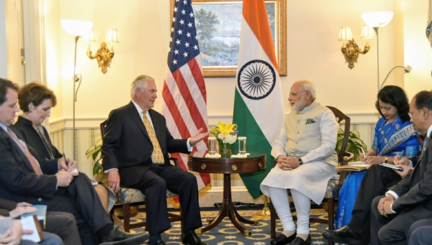 US Secretary of State Rex W. Tillerson calls on Prime Minister
