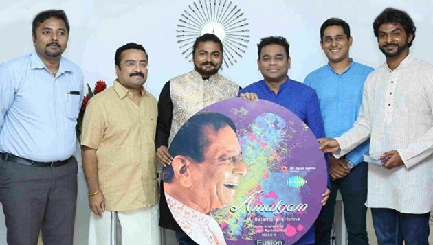 "AR Rahman Launches Dr M Balamuralikrishna Fusion Album ""AMALGAM"" Press Release"