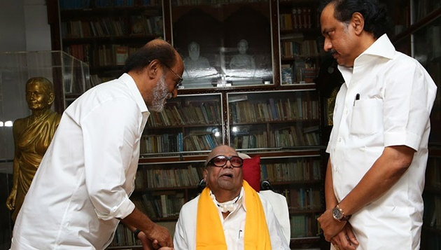 Stalin slams Rajini after superstar's meeting with Karunanidhi
