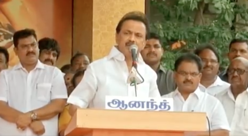 CM chairs Cabinet meet, Stalin holds protest for water