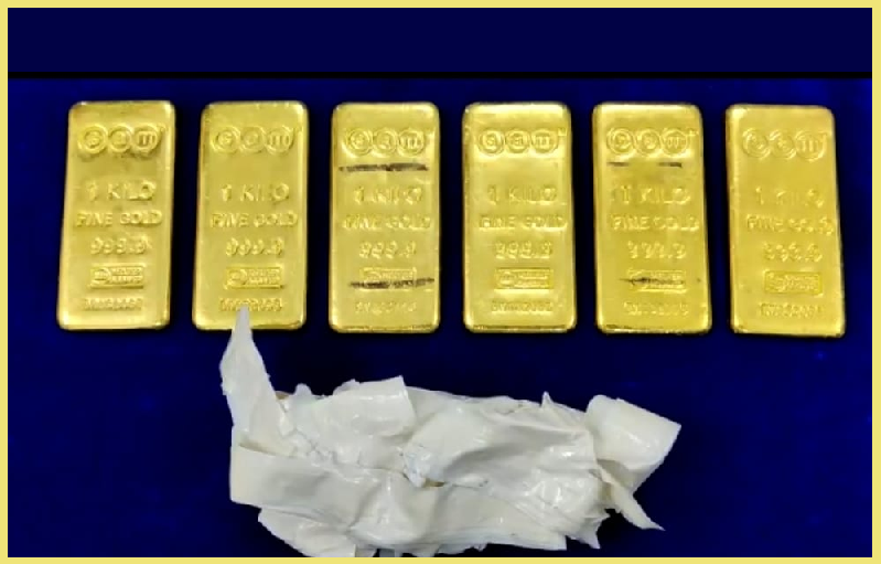 ரூ 2.90 கோடி மதிப்பிலான 6 கிலோ தங்கம் சென்னை விமான நிலைய சுங்க அதிகாரிகளால் பறிமுதல்