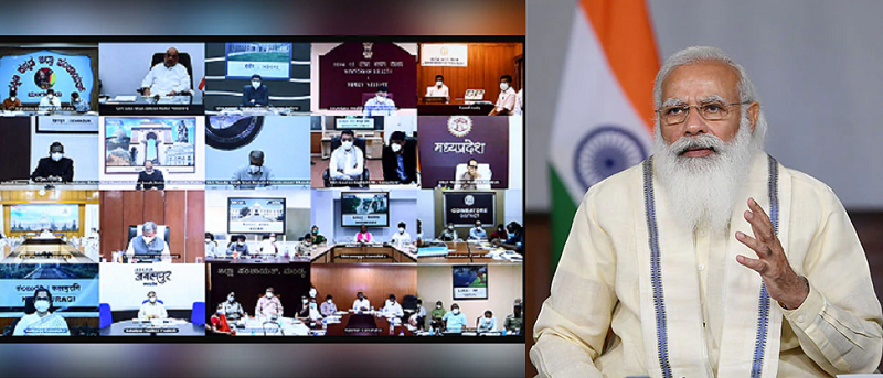 PM Interacts with State and District Officials on the COVID-19 situation
