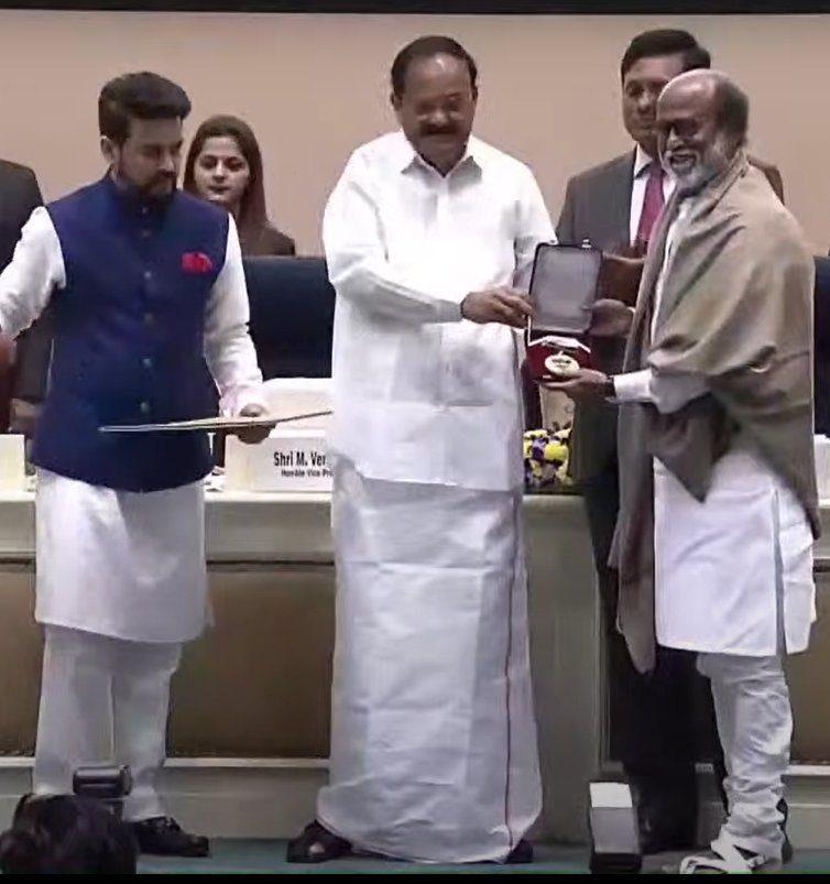 Rajinikanth receives Dadasaheb Phalke award
